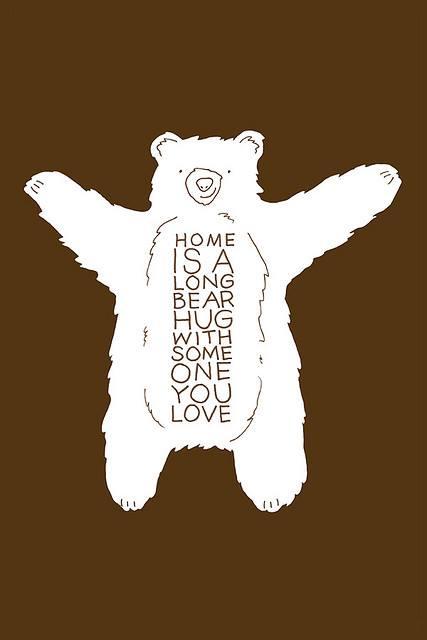 home hug  bear