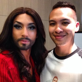 LondonJames meet Conchita Wurst