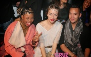 Gray, Aleks and Me at the Fashionshow of Mourjjan