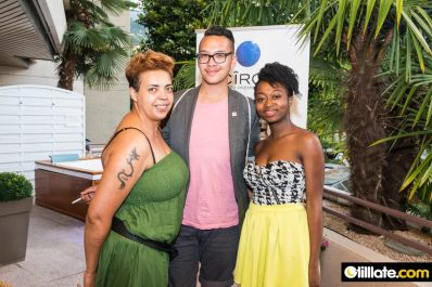 Frida, James & Stéphanie, at the Montreux Jazz Festival: Ciroc Vodka Event . picture by Michael Jost