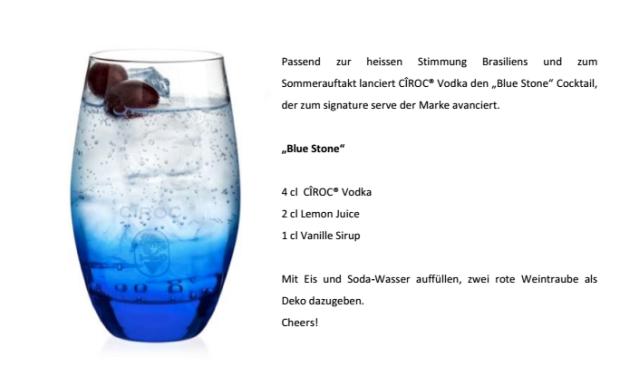 Rezept: Blue Stone Cocktail